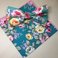 blue, pink, and green floral bow tie Brampton, L6R