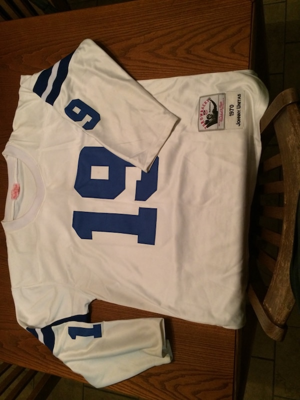 low priced 90629 b3bfa Johnny Unitas Throwback Jersey