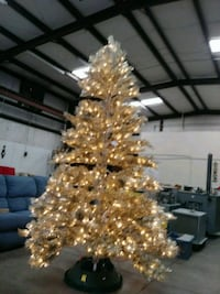 9ft Prelit tree by frontgate champagne gold