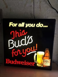 Budweiser beer lighted signage Toronto, M2J