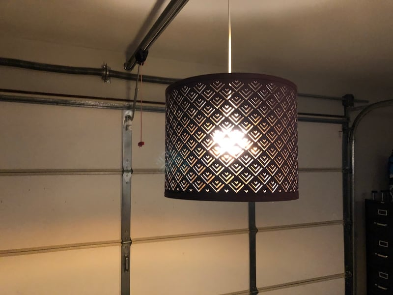Hanging Lamp With Cord And Led Bulb