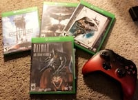 4 Xbox Games and a Controller Mc Lean, 22102