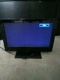 """black flat screen TV 13x9"""" with remote Tulsa County"""