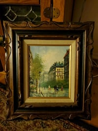Antique vintage painting  Edison, 08837