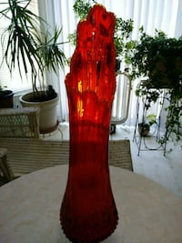 Red Glass Vase Avon