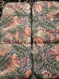 Matching outdoor chair cushions