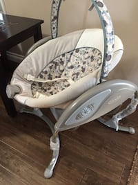 baby's white and gray bouncer Airdrie, T4B 4G2