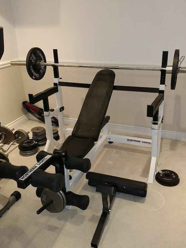 Used Northern Lights Bench Press With Safety Spotters For Sale In