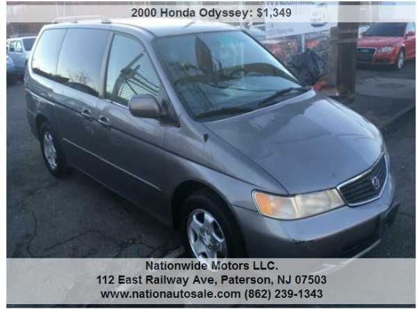 3d2d358d98 Used 2000 Honda Odyssey EX 4dr Mini Van for sale in PATERSON ...