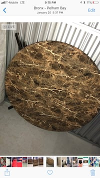round brown and black marble top table Bridgeport, 06610
