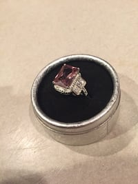 Ring (pink and real silver)