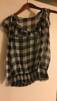black and white plaid long-sleeved dress Upper Marlboro, 20772