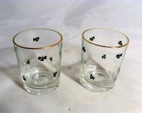 Vintage Irish Shamrock Shot Glasses Victoria, V8T