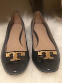 pair of black leather flats Frederick, 21702