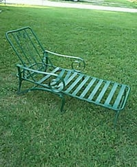 Heavy metal chaise lounger