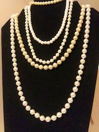 Pearl necklaces/bracelet (real & faux) Fairlawn