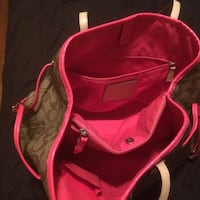 Pink and brown monogram Coach leather tote bag Central Elgin, N5P