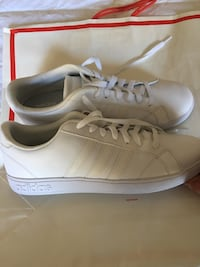 Adidas neo cloud foam sneakers all white size 11 1/2 brand new no box  Los Angeles, 91342