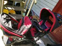 baby's red and black travel system Elizabeth, 07206