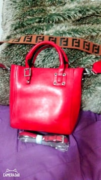Leather bag with tag price frime