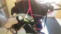 Used baby stroller and carrier