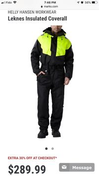 Helly Hansen insulated coverall  3724 km
