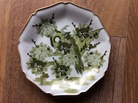 """White and green floral ceramic plate 10"""" across Dublin, 94568"""
