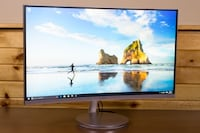 "Samsung 27"" CF591 Curved LED Monitor Built-in Speakers"