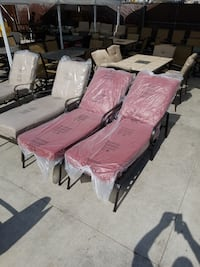 NEW! Middletown Patio Chaise Lounge with Dragonfruit Cushions (Set of 2)  Corona, 92882