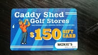 Caddy Shed Golf Stores gift card Winnipeg, R2K 2P3