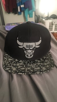 Chicago Bulls SnapBack, All black with pixels on brim, Brand new mint condition Windsor, N8X 4A9