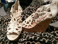 Size 8.5 summer wedges