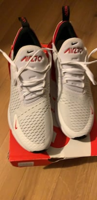 pair of white-and-red Nike basketball shoes Laurel, 20708