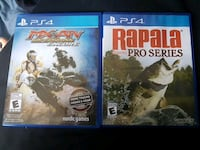 two PS4 game cases and two game cases