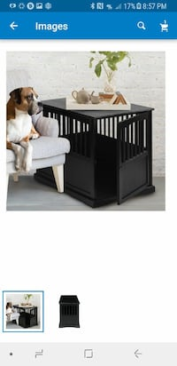 "Small 24"" Wooden Dog Crate End Table"