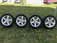 Michelin Defender 225/45R17 All Season Tires with Nissan Alloy Rims Toronto, M4A 2S3