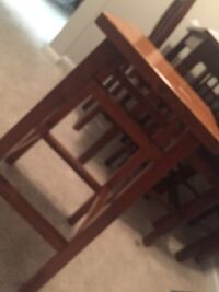 brown wooden stool qty/2 Triangle, 22172