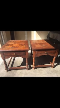 Two brown wooden side tables Las Vegas, 89129