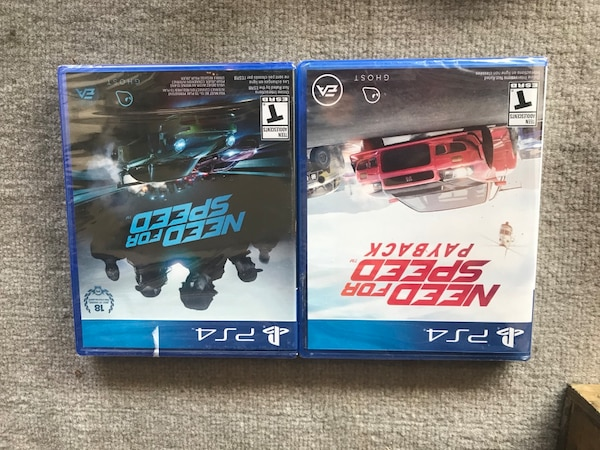 two assorted Sony PS4 game cases