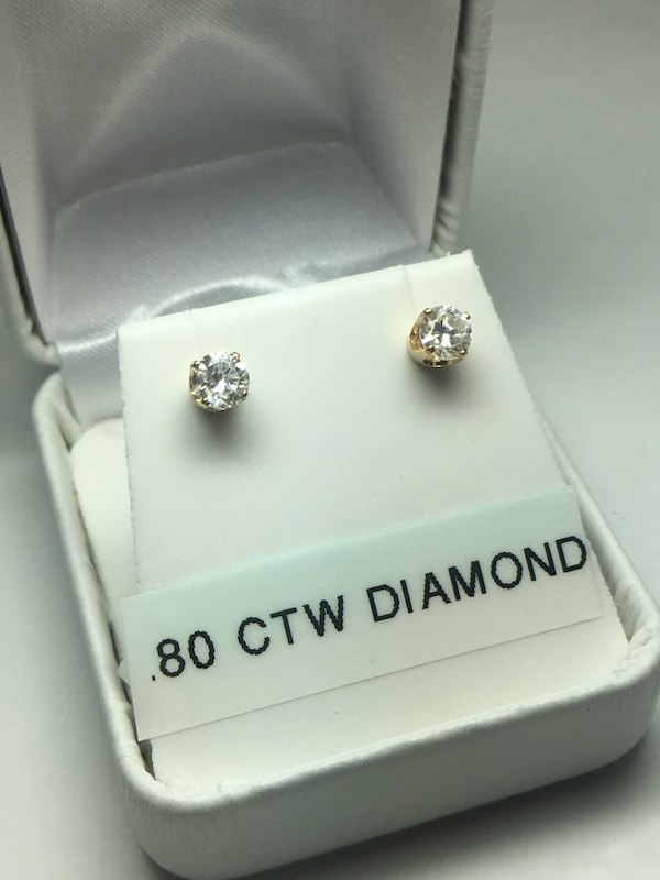 8958eb0dd995c 14k Gold .80 CTW Diamond Stud Earrings