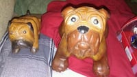 Two wooden bull dogs one large one small Cincinnati, 45248