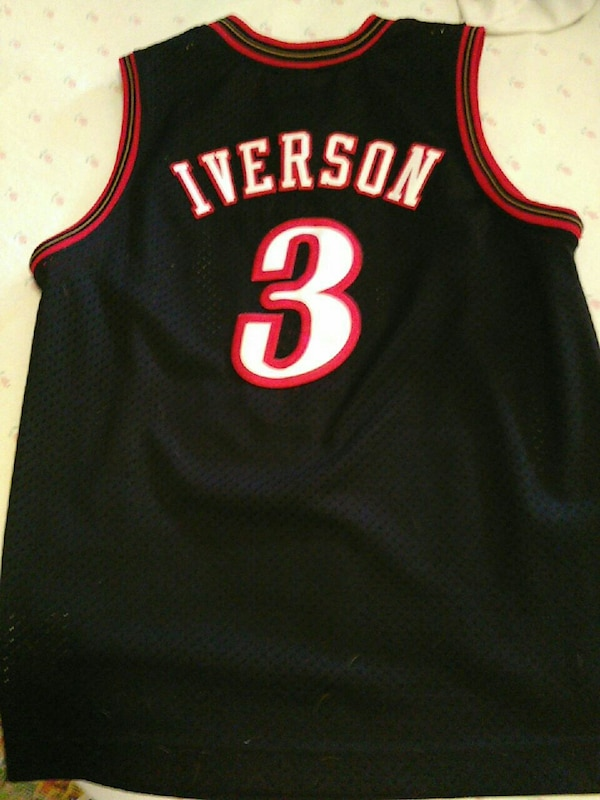 76e28b6ffb7a Used Philidelphie Sixers Allen Iverson basketball jersey shirt for sale in  Philadelphia - letgo