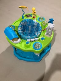 baby's green and blue exersaucer Markham, L6B