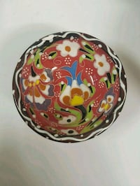 white, red, and green floral ceramic bowl Oakville, L6H