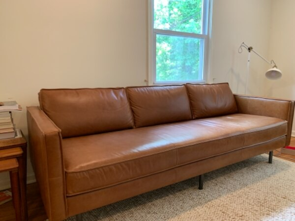 Westelm Axel Leather Sofa 89