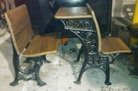 Antique set of desk and chairs for sale Chicago, 60641