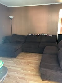 black fabric sectional sofa with throw pillows Sayreville, 08872