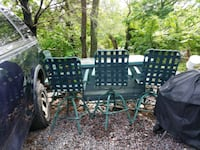 Lawn/Garden Table/Bar With 4 Tall Swivel Chairs Hatfield, 19440