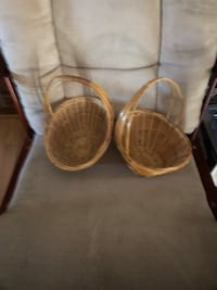 2 wicker baskets  Raleigh, 27604