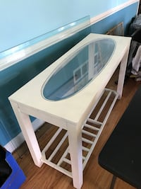 Large Whitewashed Sofa Table